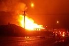 The Waimate Hotel in Manaia, south of New Plymouth, has been destroyed by fire.