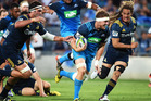 Blake Gibson impressed in the Blues' opening win over the Highlanders. Photo /Getty