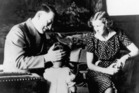 Adolf Hitler and Eva Braun with a little girl around 1940. Photo / Getty Images