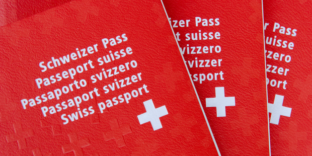 Switzerland has a bright red passport cover, mirroring its bold flag. Photo / iStock