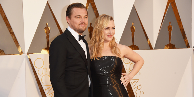 Leonardo DiCaprio and Kate Winslet arrived at this year's Oscar's ceremony together. Photo / AP