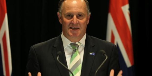 Loading John Key said it was up to the people of the US to decide who their president would be and he would work with whoever they chose. Photo / Mark Mitchell