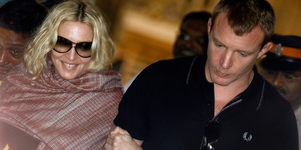 Madonna and ex-husband Guy Ritchie in better times. Photo / Getty