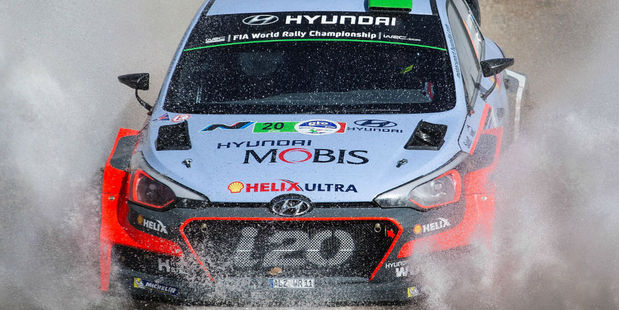 Hayden Paddon at Rally Mexico. Photo / Getty