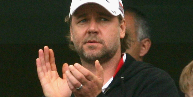 Rabbitohs part owner Russell Crowe. Photo / Getty