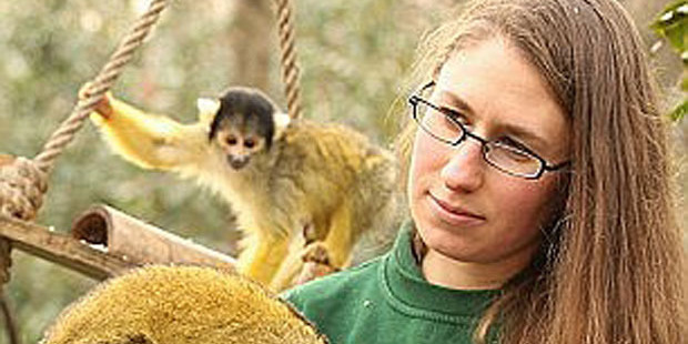 Monkey business: Kate Sanders.