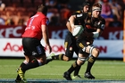 Chiefs captain Sam Cane in full flight against the Lions in Hamilton on Saturday. Photo / Getty images