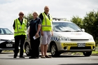 Papakura community patrol members Don and Dawn Hadfield and Glenn Torrens. Photo / Dean Purcell