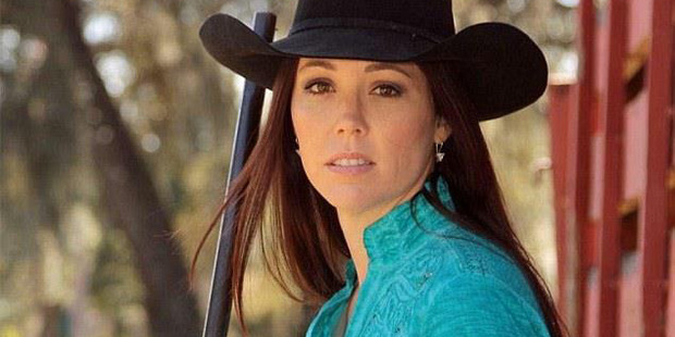 Jamie Gilt Pro-gun poster girl is shot in the back by her four-year-old son . Picture from Facebook . https://www.facebook.com/777145405748927/photos/a.777145745748893.1073741825.777145405748927/77714