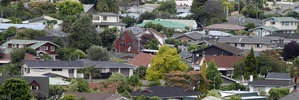 Median property values in Taradale went up at the fastest rate - 7 per cent last year.