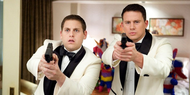 Jonah Hill, left, and Channing Tatum in the movie, 21 Jump Street.