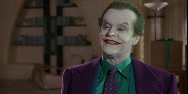 Jack Nicholson as the Joker in Tim Burton's 1989 Batman.