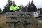Harwood Farm Trust farm manager Max Buckendahl and Shaun Morgans, a trustee.