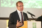 Labour Party leader Andrew Little at the climate change conference. Photo / Ben Fraser