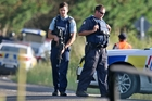 Police at the scene of Wednesday's siege near Kawerau. Photo / Ben Fraser