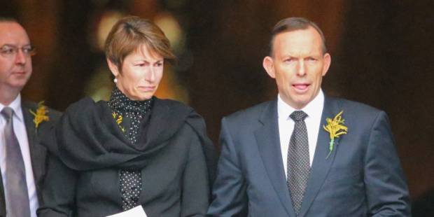 Tony Abbott and his wife Margie. Photo / Getty Images