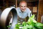 Dr Klaus Lackner uses captured CO2 to nourish greenhouse plants. Photo / The Washington Post