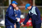 WISE HEADS: Northland head coach Richie Harris (right) taking part in a Blues training session last season with former head coach Sir John Kirwan.PHOTO/GETTY IMAGES