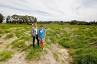 PLANS: Tourism Bay of Plenty chief executive Rhys Arrowsmith and treasurer of Wakeboarding New Zealand Michelle Malcolm at a possible site for the Bay's first wakeboard park. PHOTO/RUTH KEBER