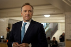 Kevin Spacey in House of Cards, which is finally available in New Zealand.