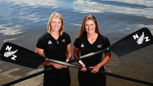 The New Zealand Womens Coxless Pair, Genevieve Behrent and Rebecca Scown. Photo / Getty