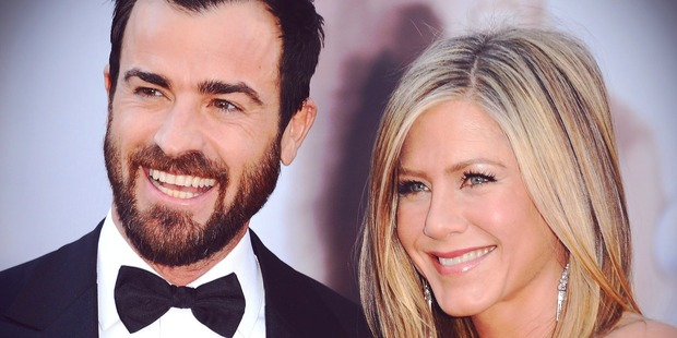 Writer Justin Theroux and actress Jennifer Aniston. Photo / Getty Images