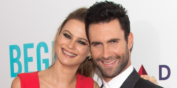 Maroon 5 lead singer Adam Levine (right) and model Behati Prinsloo. Photo / Getty Images