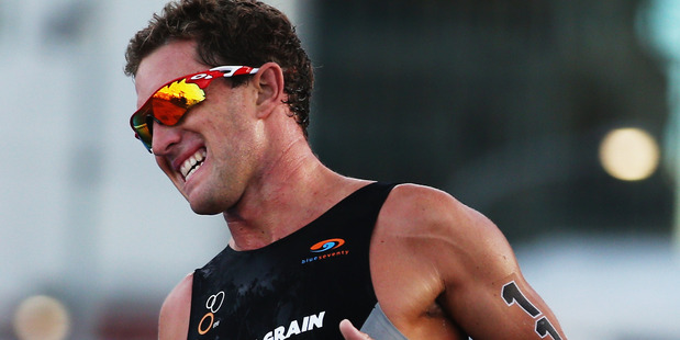 Ryan Sissons competes during the ITU World Triathlon Elite Men's. Photo / Getty Images