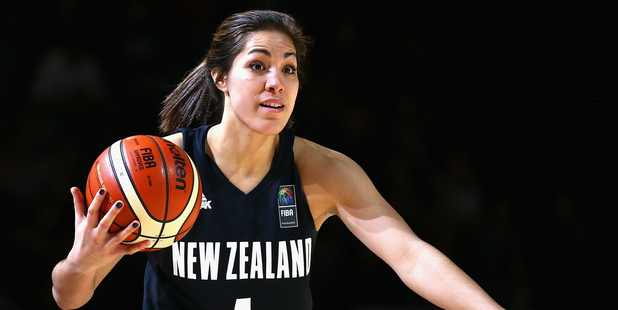 Kalani Purcell playing for the Tall Ferns. Photo / Getty Images