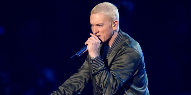 Eight Mile Style LLC and Martin Affiliated LLC, Detroit-based publishers of Eminem's copyrights, accused the party of using backing music to the rapper's song Lose Yourself. Photo / Getty Images