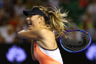 Maria Sharapova in full force at the Australian Open, where she was found to have failed a drug test. Photo / Getty Images