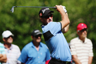Ryan Fox tees off during the NZPGA Golf Championship at Remuera Golf Club. Photo / Getty Images