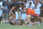 Warriors fans feared the worst when Ben Henry suffered a knee injury against the Tigers. Photo / Getty