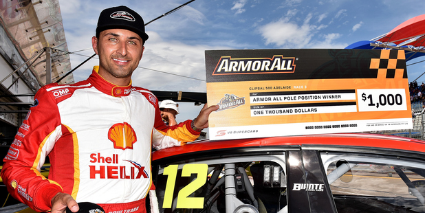 Fabian Coulthard after taking pole position for the V8 Supercars Clipsal 500. Photo / Getty Images