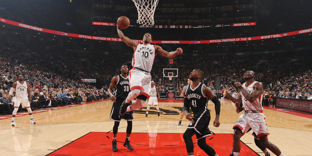 DeMar DeRozan #10 of the Toronto Raptors goes up for a dunk against the Brooklyn Nets. Photo / Getty Images
