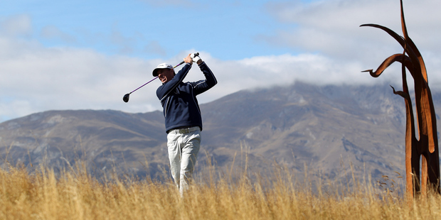 Steven Alker has been climbing the leaderboard at the New Zealand Open at The Hills. Photo / Getty