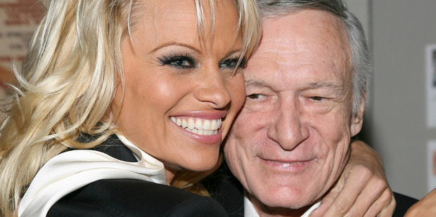 Pamela Anderson and Hugh Hefner. Photo / Getty Images
