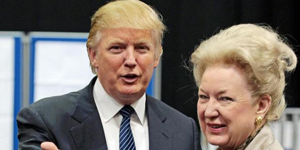 Donald Trump with his sister Maryanne Trump Barry. Photo / Getty Images