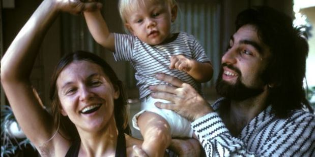 Leonardo with his parents in 1976. Photo / Corbis
