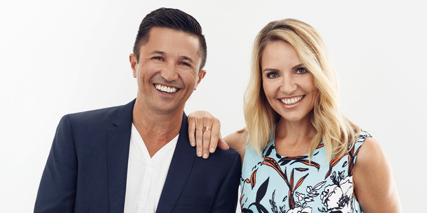 The Bachelor's Mike Puru and Mix radio host Mel Homer will front Cafe, a new morning show for MediaWorks. Photo / Supplied