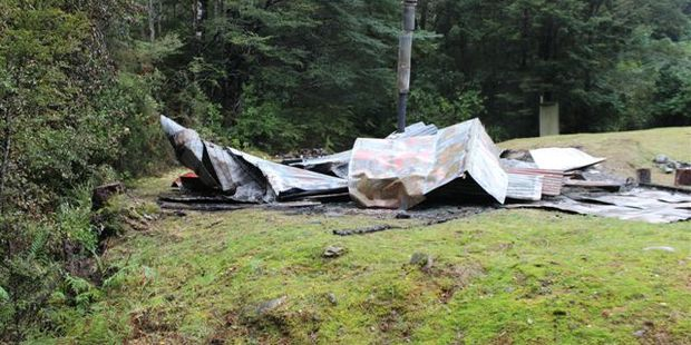 Pine Valley hut in Mt Richmond Forest Park was burnt to the ground and John Tully was one of the suspects.