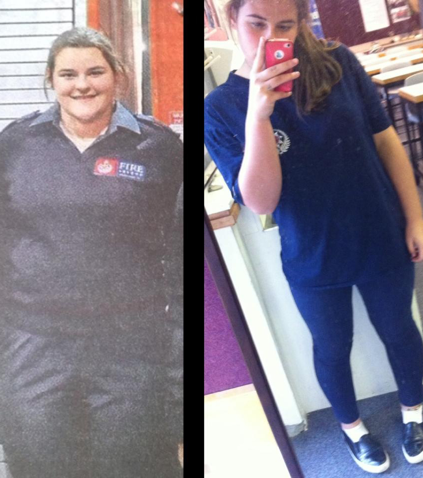 Raegan's friends often didn't recognise her when she first lost weight. Photos / Supplied