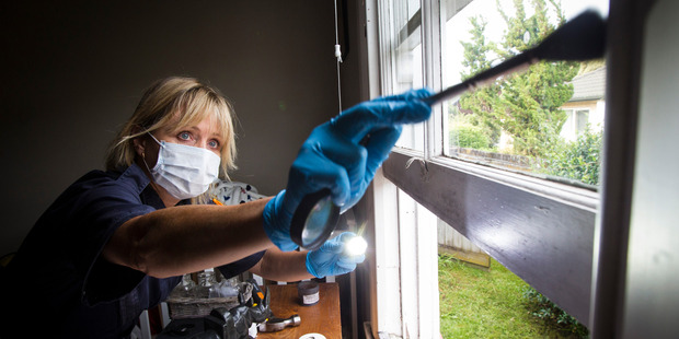 """Loading """"When someone arrives home and finds that a window is broken and the house has been broken into that is when we try and get a forensics officer out there as soon as possible."""" Photo / Jason Oxenham."""