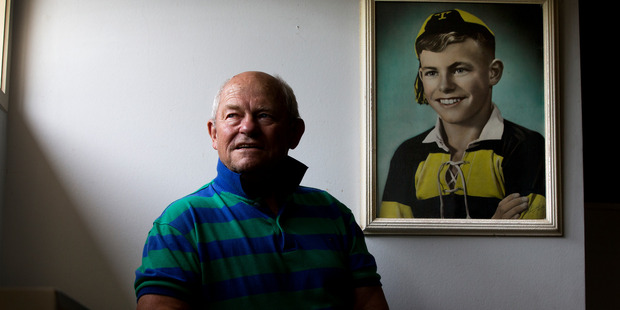 Neil Wolfe, dementia sufferer and All Black, at his home in New Plymouth. Photo / Brett Phibbs