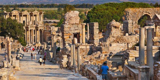 The ruins of the temple Artemis at Ephesus, Turkey.