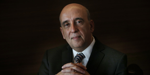 Gabriel Makhlouf Secretary of Treasury at the Stamford Hotel in Auckland. New Zealand Herald photograph by Doug Sherring.