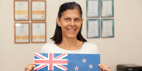 """Margareth Ruffell from Brazil - keep the old flag: """"The black on the new flag is not a native colour of NZ. It's just the sporting side and a lot of people don't like rugby or netball."""""""