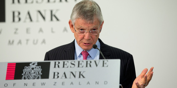 Reserve Bank Governor Graeme Wheeler announcing a lower OCR. Photo / Mark Mitchell