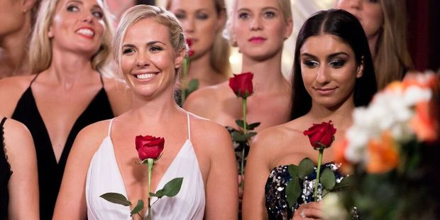 Lara Christie (left) with another The Bachelor New Zealand contestant Naz Khanjani, who has quickly become known as the trouble-maker.
