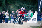 100316aw06 Crankworx. Mons Royale Dual Speed and Style. Mens winner Tomas Slavic. 10 March 2016 The Daily Post Photograph by Andrew Warner.